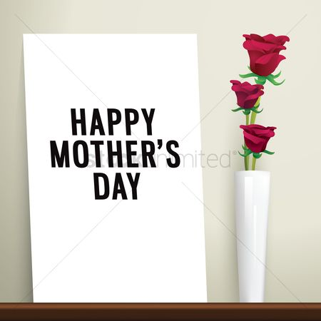 Thankful : Mothers day greeting design