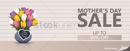 Joyful : Mothers day sale banner