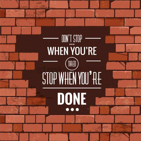 Brick : Motivational quote
