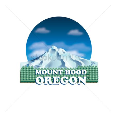 Oregon : Mount hood of oregon state