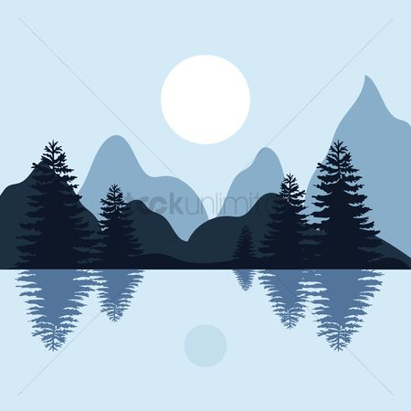 Wallpapers : Mountain and lake landscape