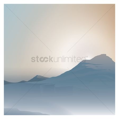 Copy spaces : Mountain background