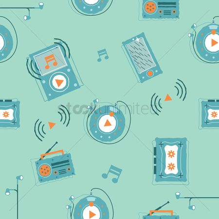 Vintage : Music background design