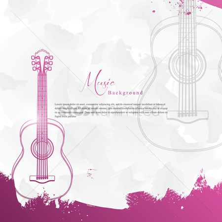 Musicals : Music background with guitar