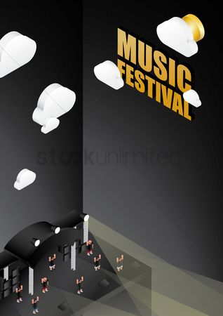 Lighting : Music festival poster design