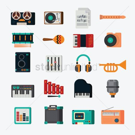 Electronic : Music icons
