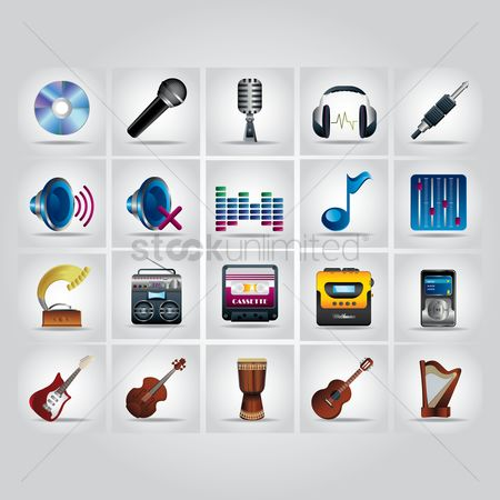 Increase : Music icons