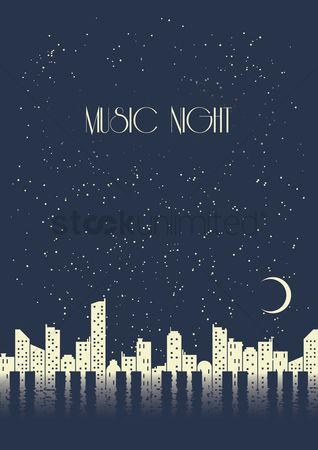 Melody : Music night poster design