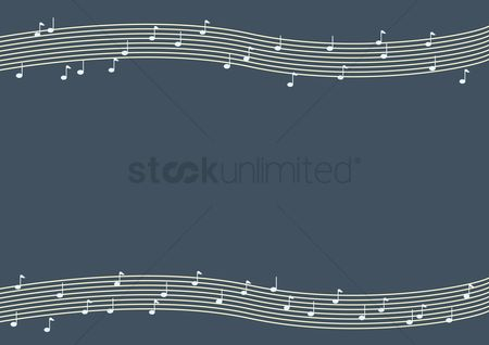 Key : Music notes and chords background