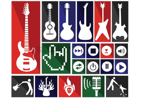 Refresh : Musical instrument icons