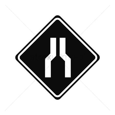 Narrow road ahead sign : Narrow road ahead sign