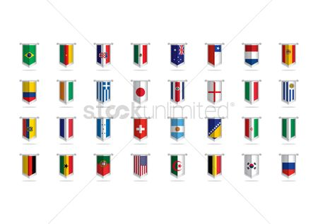 Belgium : National pennant flags set