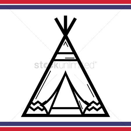 Camp : Native american tepee tent