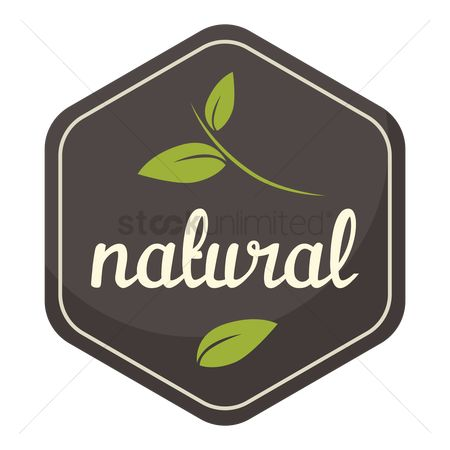 Products : Natural product label
