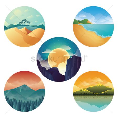 Seashore : Nature icon set