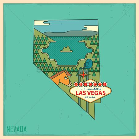 United states : Nevada state map