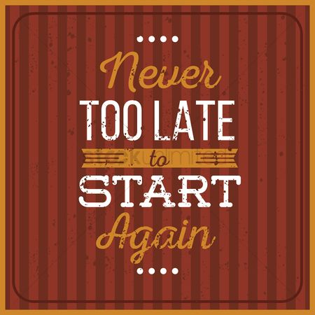 Fonts : Never too late to start quote