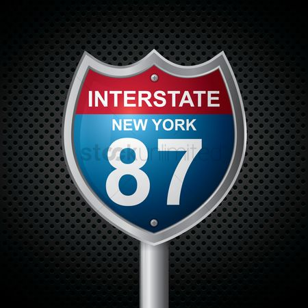 Interstates : New york 87 route sign