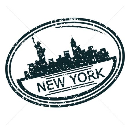 Statues : New york stamp