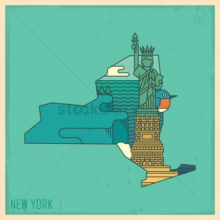 Usa map : New york state map
