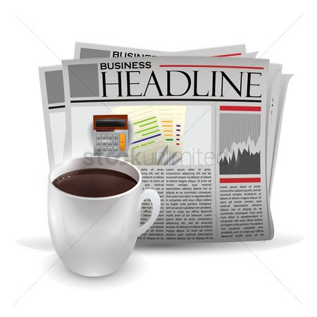 Calculate : Newspaper with hot beverage