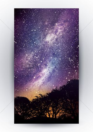 Wallpaper : Night sky design