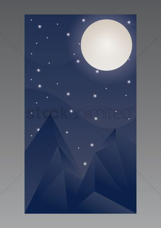 Moon : Night sky wallpaper for mobile phone