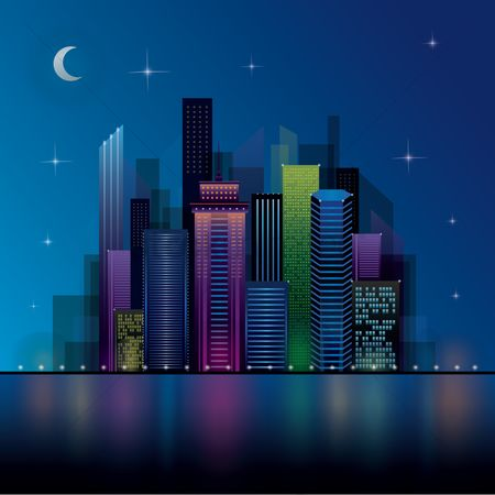 Lights : Night view cityscape