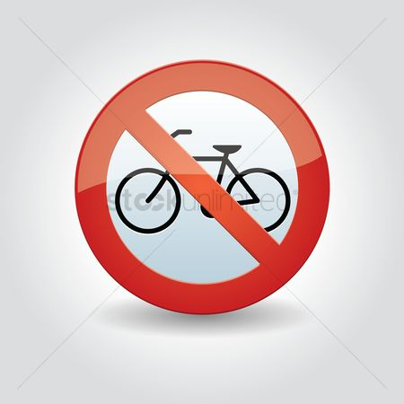 Roadsigns : No bicycle parking sign