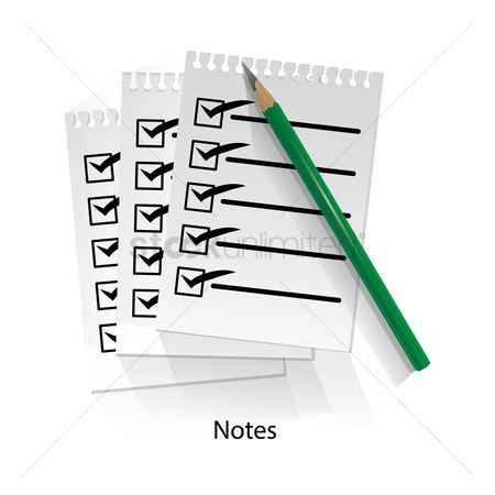 Checklists : Notes