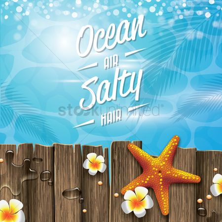 Touring : Ocean air salty hair quote