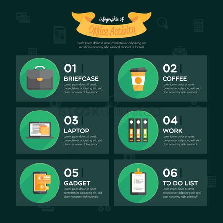 Coffee : Office activity infographic