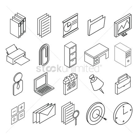 Cpu : Office icons collection