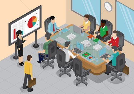 Workers : Office meeting room