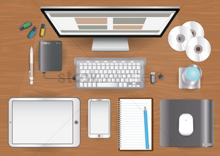 Mouse pad : Office workspace design