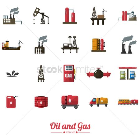 Gases : Oil and gas icons