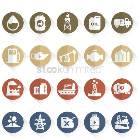 Vessel : Oil and gas icons
