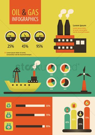 Fuel : Oil and gas infographic