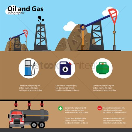 Petroleum : Oil and gas infographic