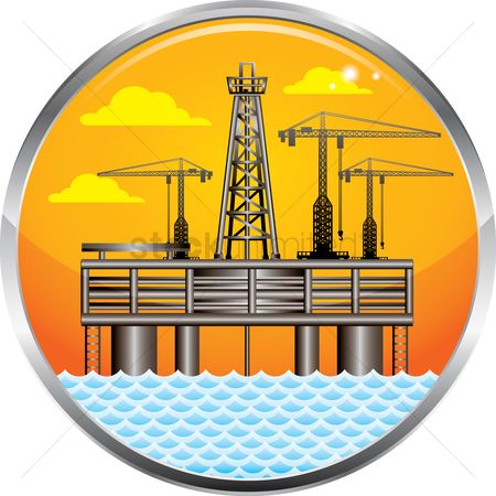 Petroleum : Oil and gas platform