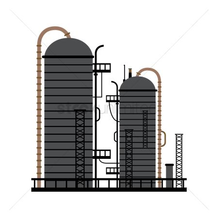 Production : Oil and gas production plant