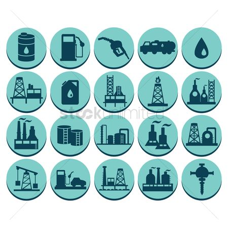 Tanks : Oil gas and petroleum icon set