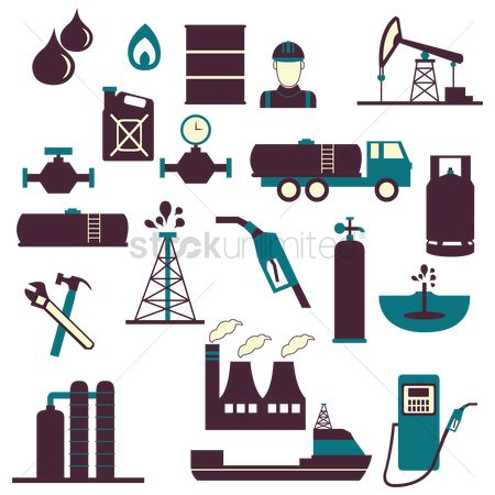 Petroleum : Oil gas and petroleum icon set