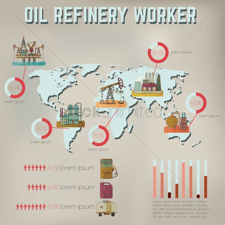 Jack : Oil refinery worker infographic