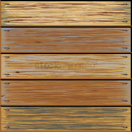 Plates : Old wooden texture background