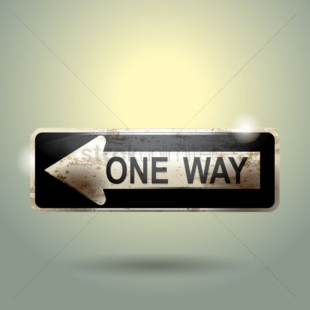 Warning : One way sign