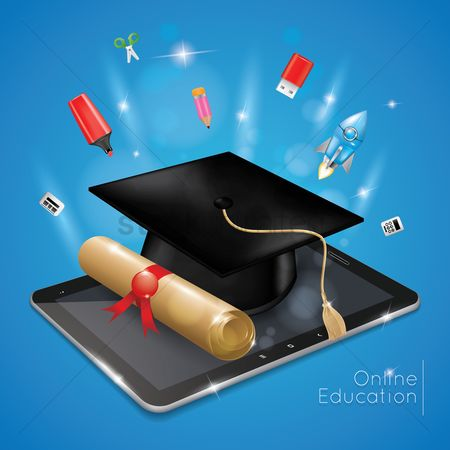 Electronic : Online education concept