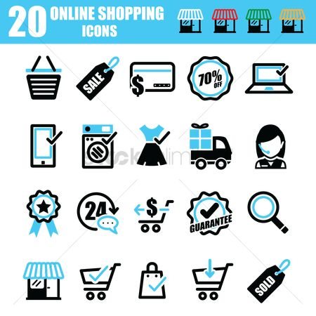 Shopping : Online shopping icons