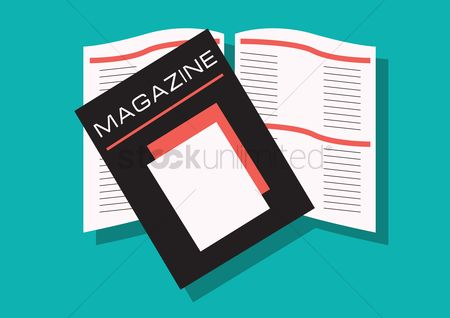 Journals : Opened and closed magazine