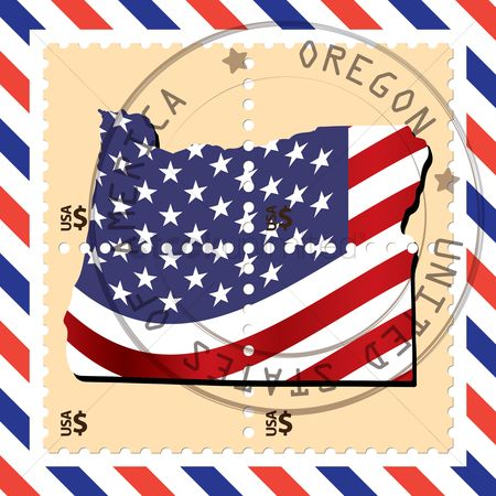 Oregon : Oregon stamp